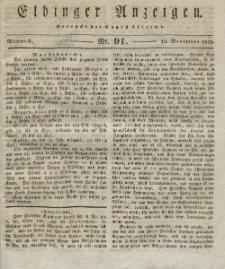 Elbinger Anzeigen, Nr. 91. Mittwoch, 12. November 1828