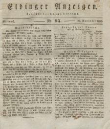 Elbinger Anzeigen, Nr. 95. Mittwoch, 26. November 1828