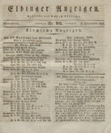 Elbinger Anzeigen, Nr. 98. Sonnabend, 6. Dezember 1828