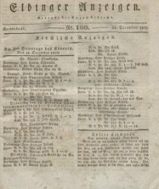 Elbinger Anzeigen, Nr. 100. Sonnabend, 13. Dezember 1828