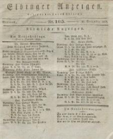 Elbinger Anzeigen, Nr. 105. Mittwoch, 31. Dezember 1828