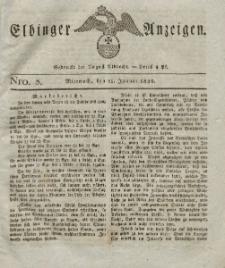 Elbinger Anzeigen, Nr. 3. Mittwoch, 11. Januar 1826
