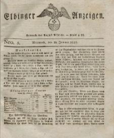Elbinger Anzeigen, Nr. 5. Mittwoch, 18. Januar 1826