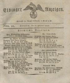 Elbinger Anzeigen, Nr. 10. Sonnabend, 4. Februar 1826