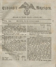 Elbinger Anzeigen, Nr. 11. Mittwoch, 8. Februar 1826