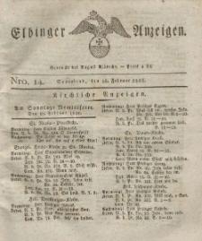Elbinger Anzeigen, Nr. 14. Sonnabend, 18. Februar 1826