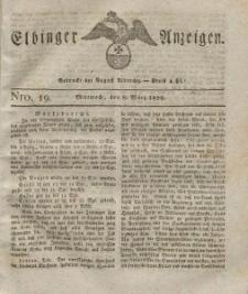 Elbinger Anzeigen, Nr. 19. Mittwoch, 8. März 1826