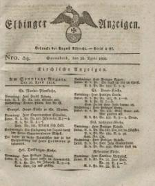 Elbinger Anzeigen, Nr. 34. Sonnabend, 29. April 1826