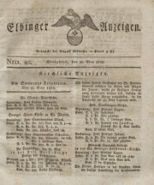 Elbinger Anzeigen, Nr. 40. Sonnabend, 20. Mai 1826