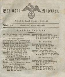 Elbinger Anzeigen, Nr. 42. Sonnabend, 27. Mai 1826