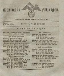 Elbinger Anzeigen, Nr. 46. Sonnabend, 10. Juni 1826