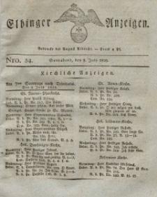 Elbinger Anzeigen, Nr. 54. Sonnabend, 8. Juli 1826