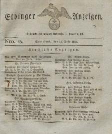 Elbinger Anzeigen, Nr. 56. Sonnabend, 15. Juli 1826