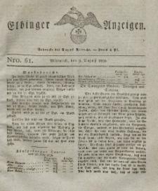 Elbinger Anzeigen, Nr. 61. Mittwoch, 2. August 1826