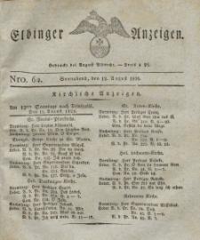 Elbinger Anzeigen, Nr. 64. Sonnabend, 12. August 1826