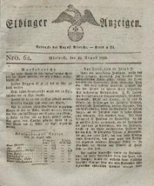 Elbinger Anzeigen, Nr. 65. Mittwoch, 16. August 1826