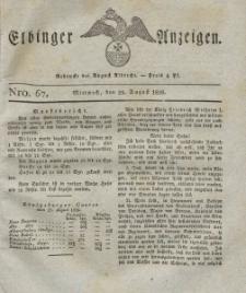 Elbinger Anzeigen, Nr. 67. Mittwoch, 23. August 1826