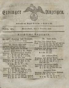Elbinger Anzeigen, Nr. 80. Sonnabend, 7. Oktober 1826