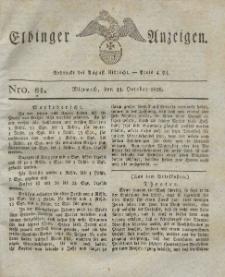 Elbinger Anzeigen, Nr. 81. Mittwoch, 11. Oktober 1826