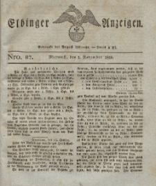 Elbinger Anzeigen, Nr. 87. Mittwoch, 1. November 1826