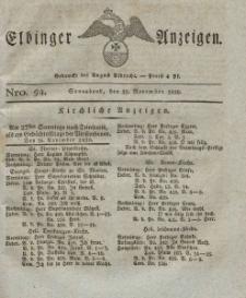 Elbinger Anzeigen, Nr. 94. Sonnabend, 25. November 1826