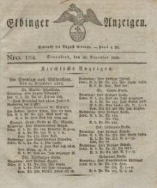 Elbinger Anzeigen, Nr. 104. Sonnabend, 30. Dezember 1826