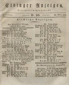 Elbinger Anzeigen, Nr. 25. Sonnabend, 28. März 1829