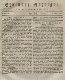 Elbinger Anzeigen, Nr. 28. Mittwoch, 8. April 1829