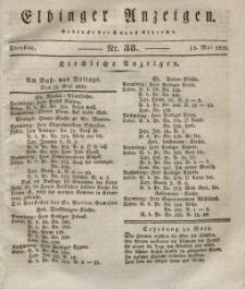 Elbinger Anzeigen, Nr. 38. Dienstag, 12. Mai 1829