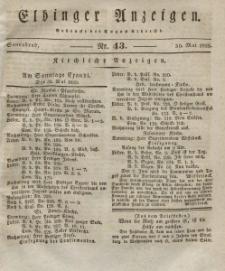 Elbinger Anzeigen, Nr. 43. Sonnabend, 30. Mai 1829