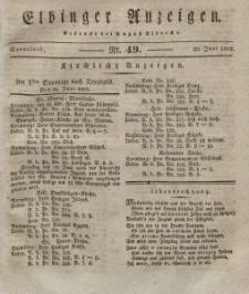 Elbinger Anzeigen, Nr. 49. Sonnabend, 20. Juni 1829