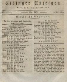 Elbinger Anzeigen, Nr. 53. Sonnabend, 4. Juli 1829