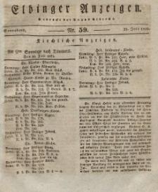 Elbinger Anzeigen, Nr. 59. Sonnabend, 25. Juli 1829