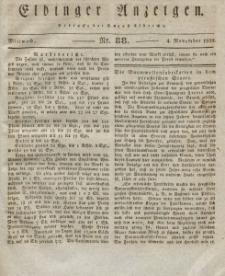 Elbinger Anzeigen, Nr. 88. Mittwoch, 4. November 1829