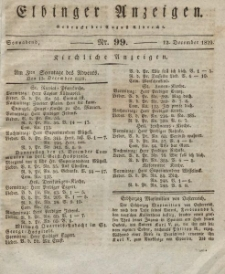 Elbinger Anzeigen, Nr. 99. Sonnabend, 12. Dezember 1829