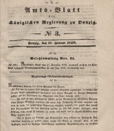 Amts-Blatt der Königlichen Regierung zu Danzig, 17. Januar 1849, Nr. 3