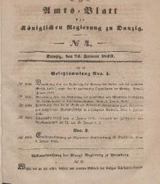 Amts-Blatt der Königlichen Regierung zu Danzig, 24. Januar 1849, Nr. 4