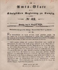 Amts-Blatt der Königlichen Regierung zu Danzig, 8. August 1849, Nr. 32