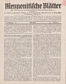 Mennonitische Blätter, Mai 1937, nr 5, Jahrgang 84.