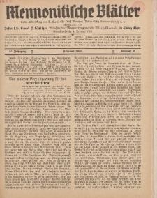 Mennonitische Blätter, Februar 1938, nr 2, Jahrgang 85.