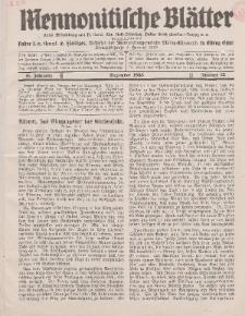 Mennonitische Blätter, Dezember 1938, nr 12, Jahrgang 85.