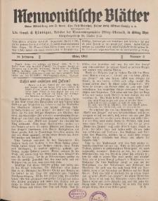 Mennonitische Blätter, März 1931, nr 3, Jahrgang 78.