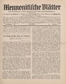 Mennonitische Blätter, Juni 1931, nr 6, Jahrgang 78.