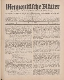 Mennonitische Blätter, September 1931, nr 9, Jahrgang 78.
