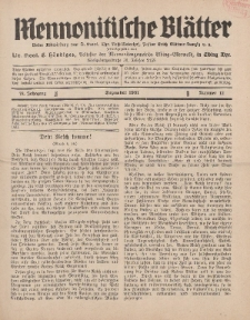 Mennonitische Blätter, Dezember 1931, nr 12, Jahrgang 78.