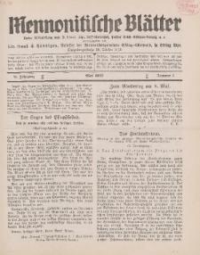 Mennonitische Blätter, Mai 1932, nr 5, Jahrgang 79.