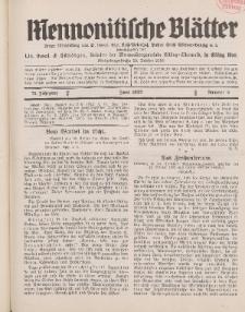 Mennonitische Blätter, Juni 1932, nr 6, Jahrgang 79.