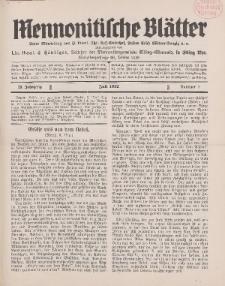 Mennonitische Blätter, Juli 1932, nr 7, Jahrgang 79.