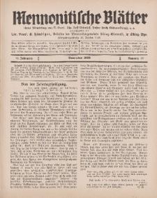 Mennonitische Blätter, November 1929, nr 11, Jahrgang 76.