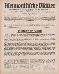 Mennonitische Blätter, Dezember 1929, nr 12, Jahrgang 76.